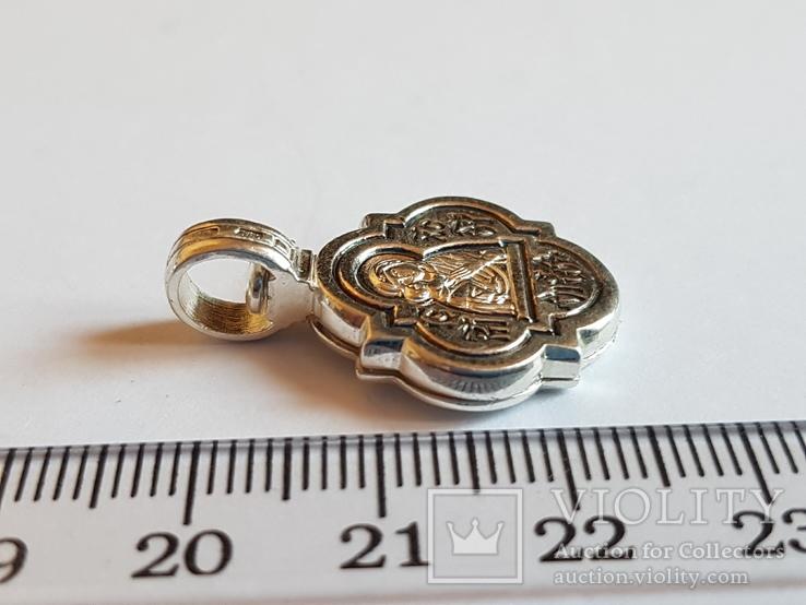 Нательная иконка. Серебро 925 проба. Вес 5.96 г., фото №4