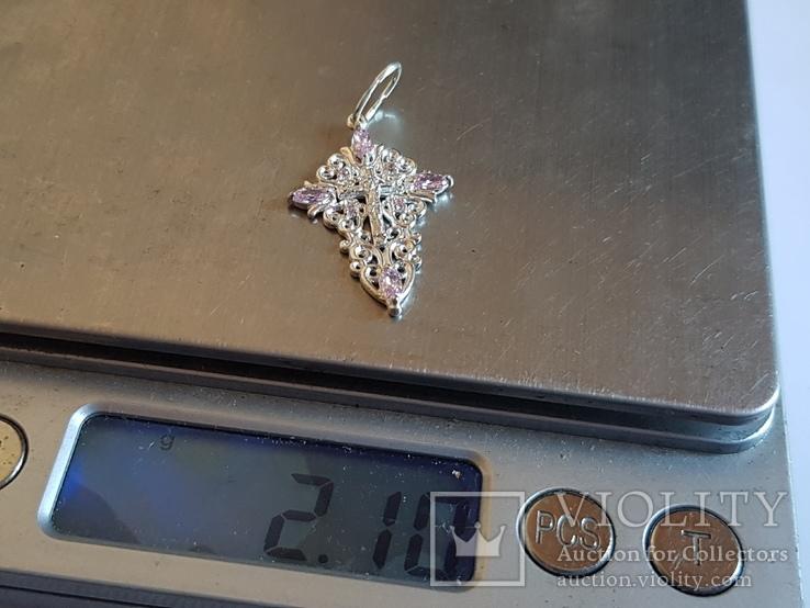 Крестик нательный. Серебро 925 проба. Вес 2.1 г, фото №10