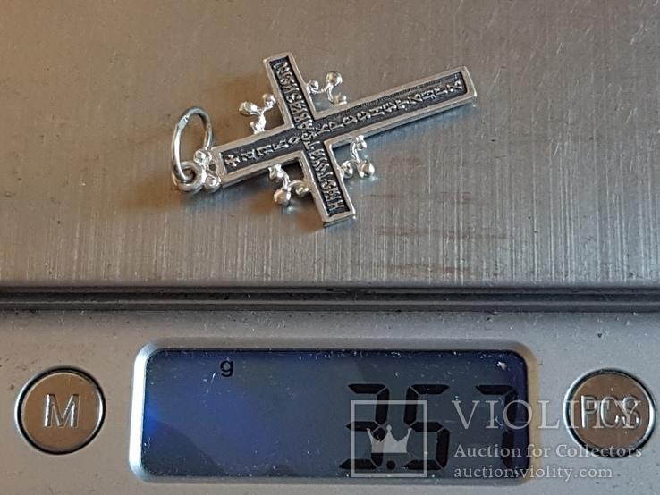 Крест нательный серебро 925. Вес 3.55 г., фото №10