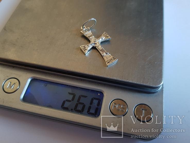 Крестик нательный. Серебро 925 проба. Вес 2.6 г., фото №8