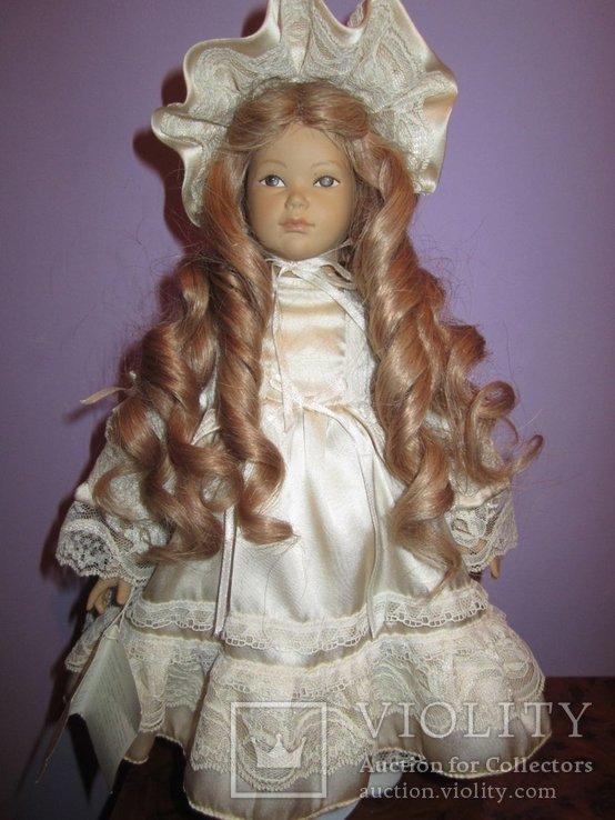 Уникальная фарфоровая кукла от Heidi Ott Хайди Отт натуральные волосы, фото №3