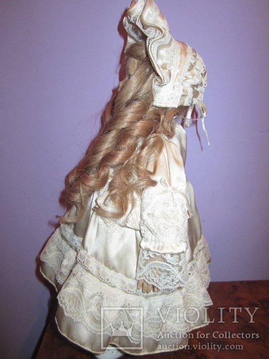 Уникальная фарфоровая кукла от Heidi Ott Хайди Отт натуральные волосы, фото №7