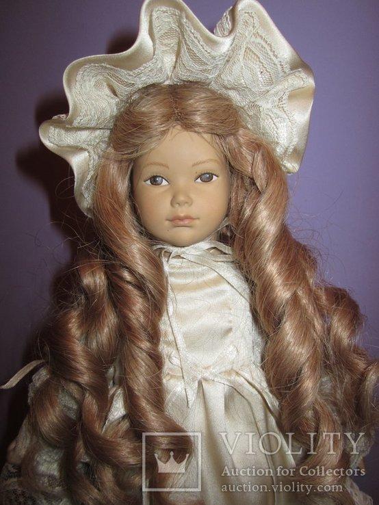 Уникальная фарфоровая кукла от Heidi Ott Хайди Отт натуральные волосы, фото №8