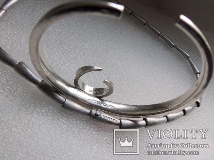 Комплект Pierre Cardin серебро вес 107,58 г. Колье, браслет, кольцо. Пьер Карден., фото №12