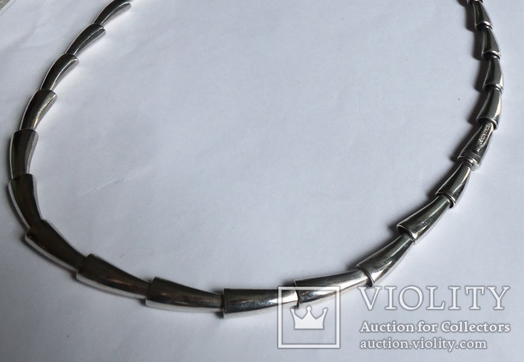 Колье Pierre Cardin серебро вес 72,67 г. полированное. Пьер Карден., фото №5