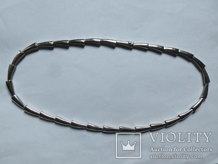 Колье Pierre Cardin серебро вес 72,67 г. полированное. Пьер Карден., фото №6