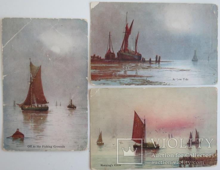 """Комплект открыток """"Лодки"""" 1900-х, фото №2"""