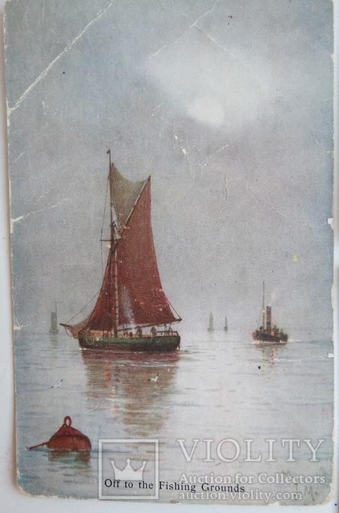 """Комплект открыток """"Лодки"""" 1900-х, фото №4"""