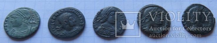 5 фоллисов императора Констанция Галла  ( 351 -354), фото №2