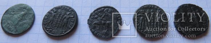 5 фоллисов императора Констанция Галла  ( 351 -354), фото №3