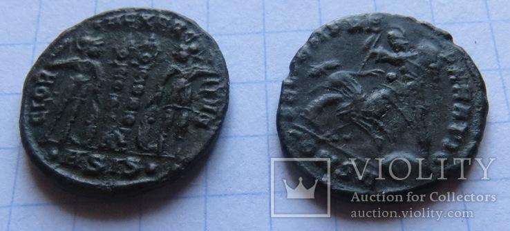 5 фоллисов императора Констанция Галла  ( 351 -354), фото №7