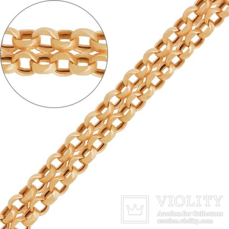 Золотая цепочка с плетением Дочбисмарк