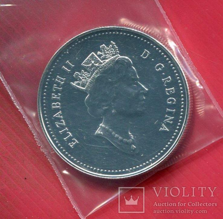 Канада 1 доллар 1992 aUNC Дилижанс, фото №3