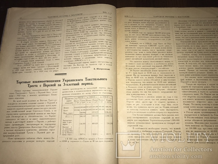 1926 Торговля Украины с Востоком, фото №8