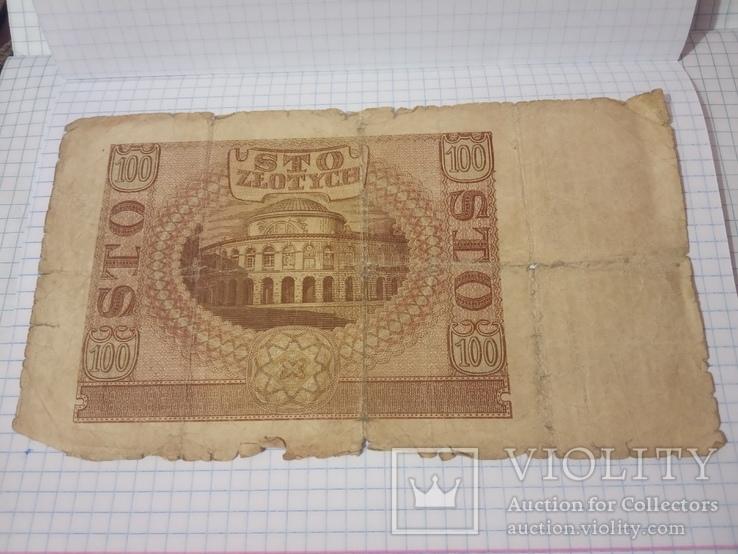 100 злотых 1940 г.  Польша, фото №4