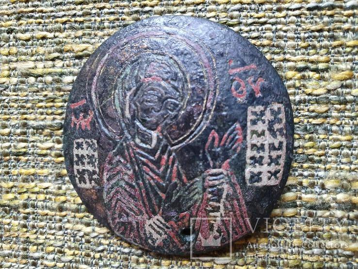 Богородица Агиосоритисса. Выемчатые эмали. XIII-XIVвв., фото №3