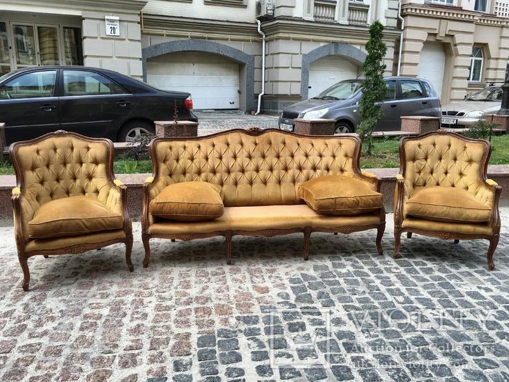 Комплект барокко кресла диван мягкий уголок, фото №2