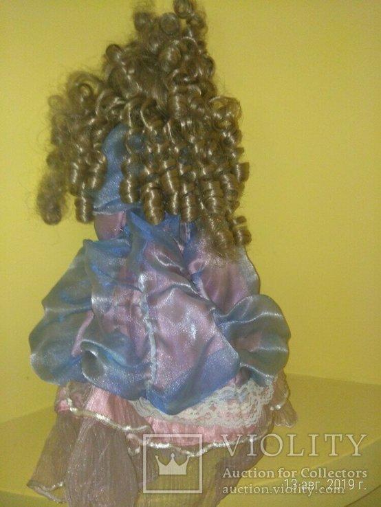 Кукла фарфор Леди с сумочкой 42см, фото №3