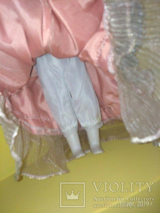 Кукла фарфор Леди с сумочкой 42см, фото №5