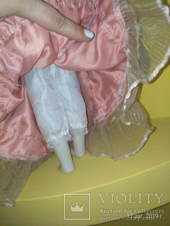 Кукла фарфор Леди с сумочкой 42см, фото №7