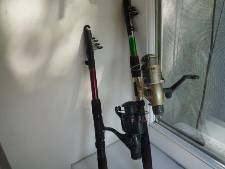 Удилища телескопические, с катушками и леской 2 шт., фото №5