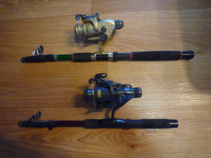 Удилища телескопические, с катушками и леской 2 шт., фото №6