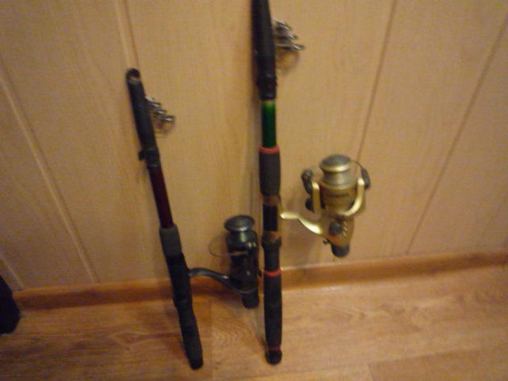 Удилища телескопические, с катушками и леской 2 шт., фото №7