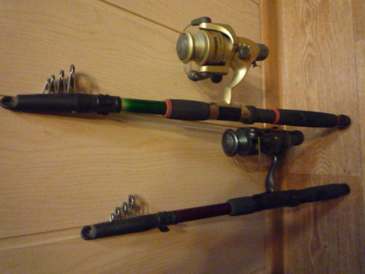Удилища телескопические, с катушками и леской 2 шт., фото №8