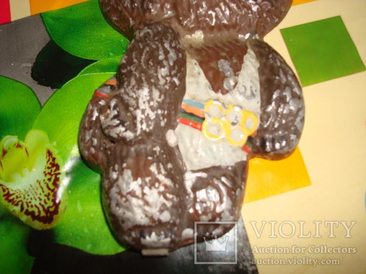 Мишка олимпийский металический тяжёлый СССР 1980, фото №4