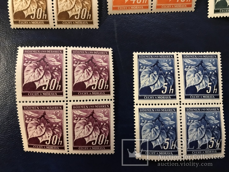 Сцепки марок. Богемия и Моравия., фото №4