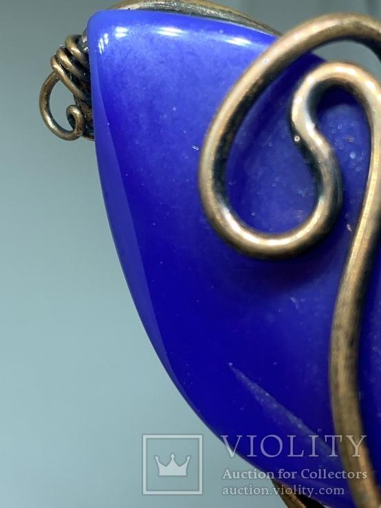 Кулон с Англии в виде синего камня, фото №8