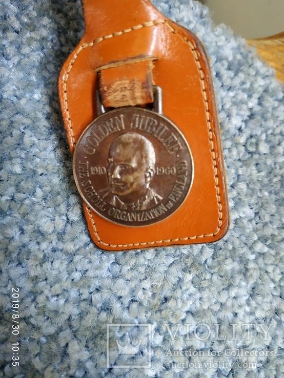 Медальйон брелок золотой юбилей док. Шолля, фото №3