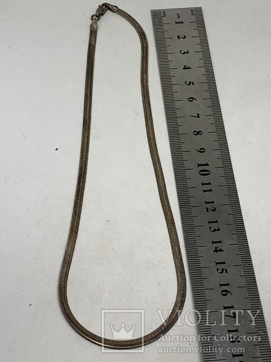 Винтажная Итальянская цепочка(серебро 925,клейма), фото №7