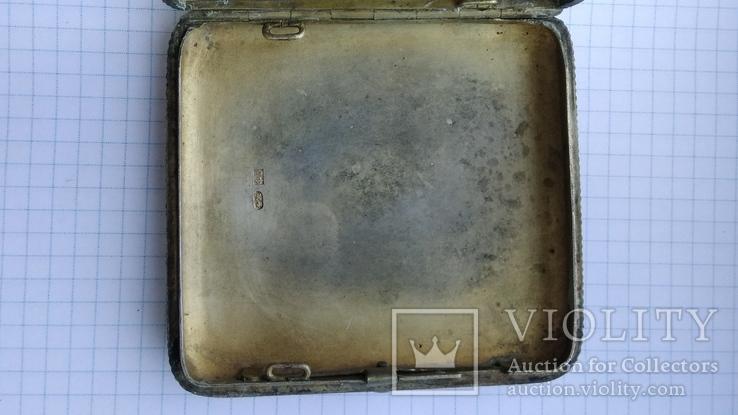 Портсигар серебро 84пр. модерн именник А.Ф, фото №8