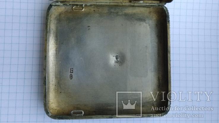Портсигар серебро 84пр. модерн именник А.Ф, фото №9