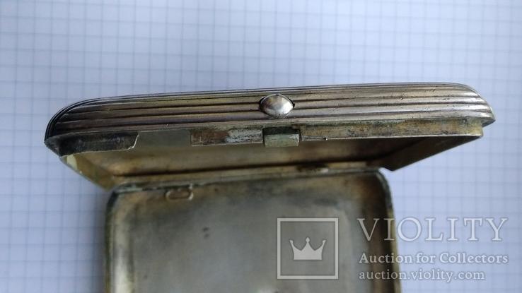 Портсигар серебро 84пр. модерн именник А.Ф, фото №10
