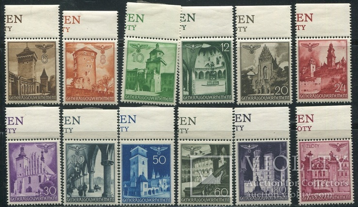 1940 Рейх Генералгубернаторство города архитектура  полная серия с полями MNH