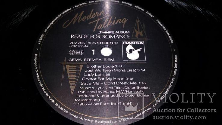 Modern Talking (1-6 Albums) 1985-87. Vinyl. (12). Пластинки. Hansa. Germany. Все альбомы, фото №13