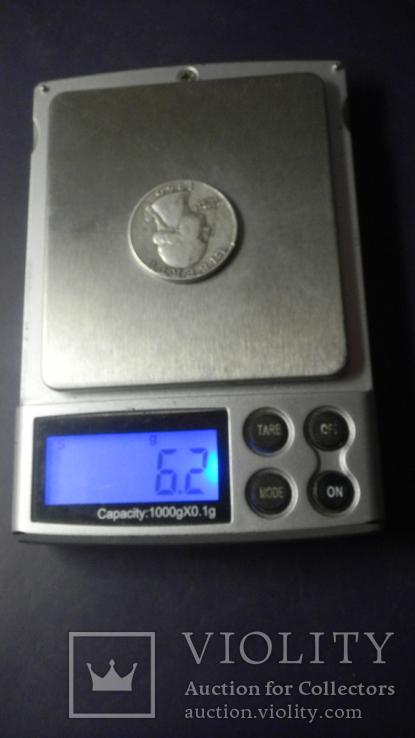 25 центів США 1960 срібло, фото №4