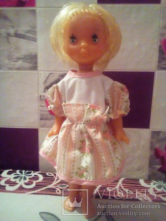Лялька паричковая на резинках производства ссср., фото №2