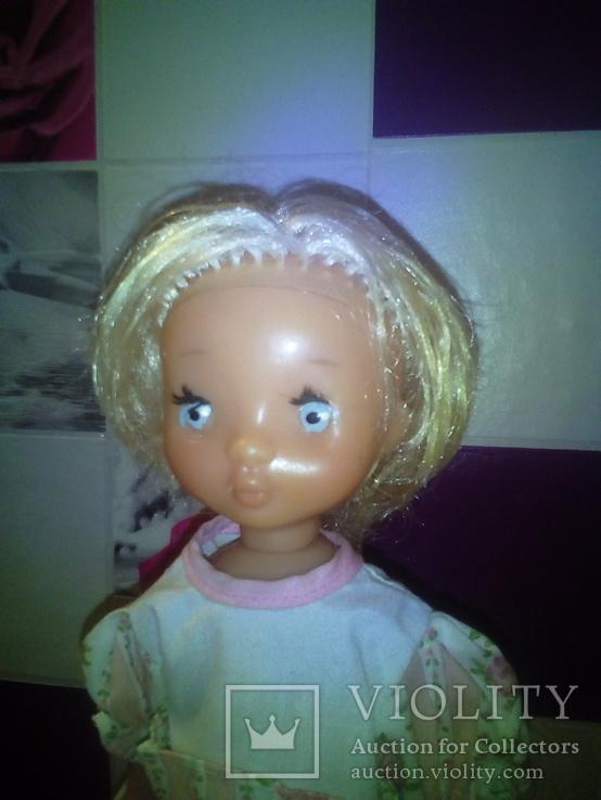 Лялька паричковая на резинках производства ссср., фото №3