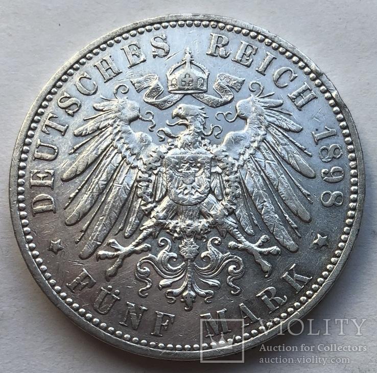 5 марок 1898 года. Саксония.