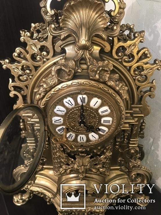 Часы каминные с подсвечниками. Из Италии., фото №3