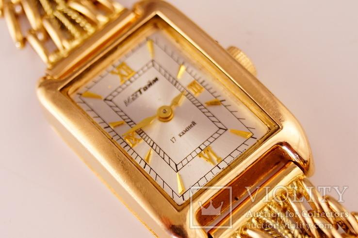 Золотые часы с браслетом 585 пробы, фото №4