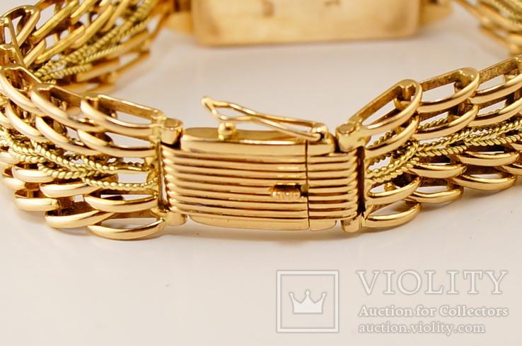 Золотые часы с браслетом 585 пробы, фото №5