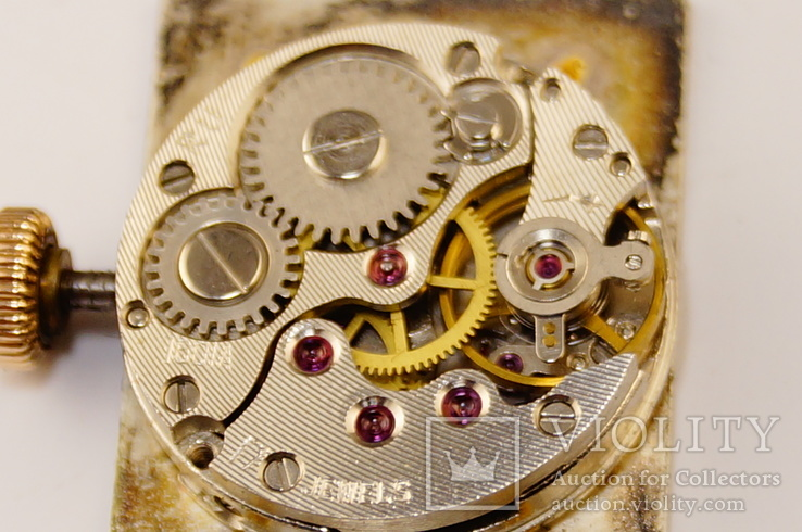 Золотые часы с браслетом 585 пробы, фото №6