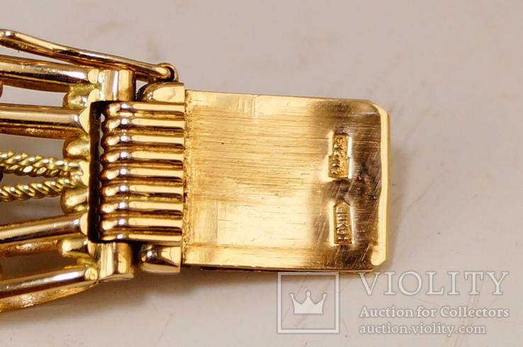Золотые часы с браслетом 585 пробы, фото №13