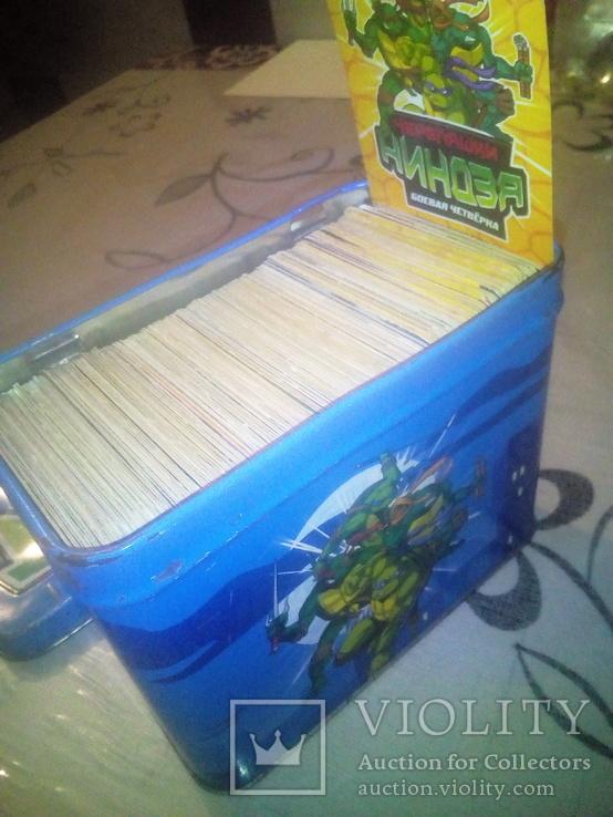 Коллекцыоные картки Ниндзя черепашки 305 шт., фото №2