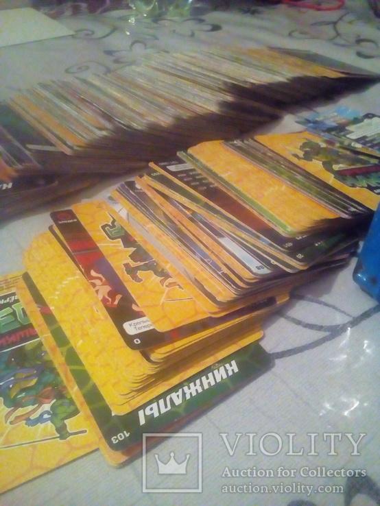 Коллекцыоные картки Ниндзя черепашки 305 шт., фото №4
