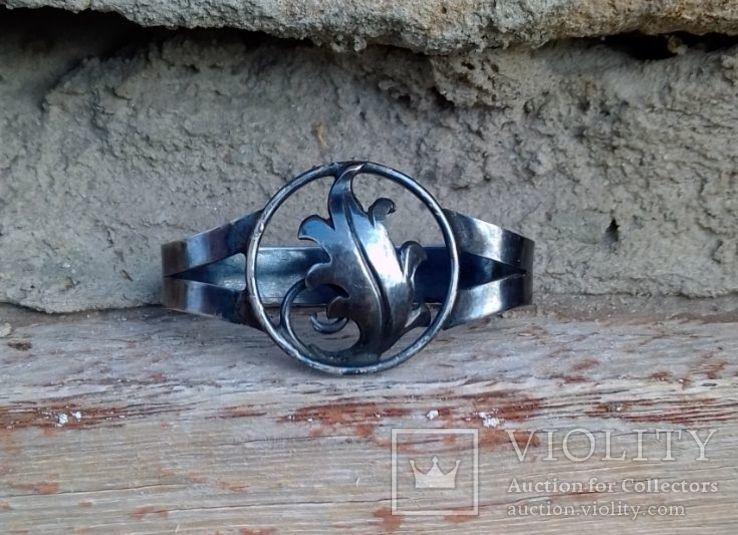 Зажим для галстука, платка, серебро 800, фото №7